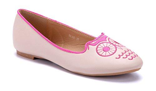 Schuhtempel24 Damen Schuhe Klassische Ballerinas Flach 1 cm