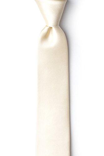 Ivory Cream Ivory Cream Silk Skinny Tie