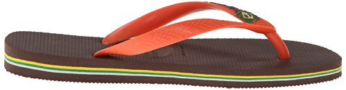 Havaianas Sandale Brésilienne Pour Femme Sandale Flip-flop Marron Foncé / Orange