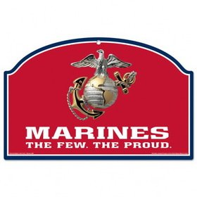 US Marines Red 11x17 Wood Sign Champions Wood Sign