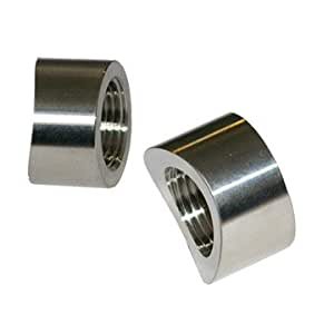 Stainless Steel O2 Sensor Weld Bung, Notched Style, M18x1.5