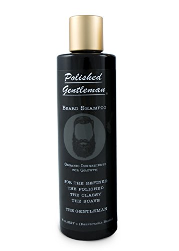 Polished Gentleman Beard Growth and Thickening Shampoo - With Organic Beard Oil - For Best Beard Look - For Facial Hair Growth - Beard Softener for Grooming - 4oz Small - Best Looks Hair Facial