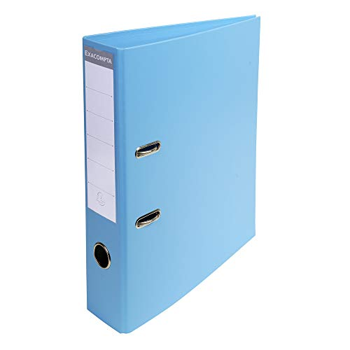 Exacompta Prem'Touch PVC Lever Arch File, 70mm Spine, 2 Ring - Light Blue