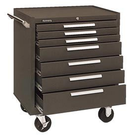 "29"" 7-Drawer Roller Cabinet W/ Friction Slides - Brown Review"