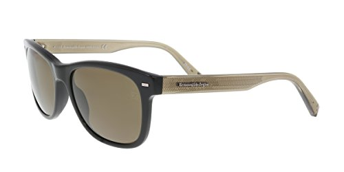 Used, Ermenegildo Zegna EZ0028-N 01M Black/Gold Square Sunglasses for sale  Delivered anywhere in USA