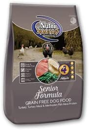 Nutrisource Grain Free Turkey Senior Dog Food 15Lb