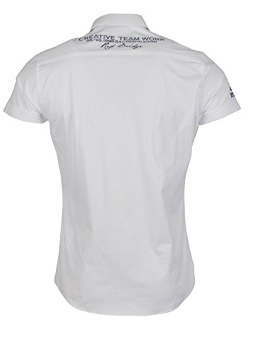 Kurzarm Freizeithemd - weiß
