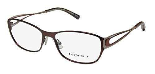 Koali 7259k Womens/Ladies Rx-able Premium Segment Designer Full-rim Eyeglasses/Eyeglass Frame (54-16-135, Mahogany / Copper / Sand)
