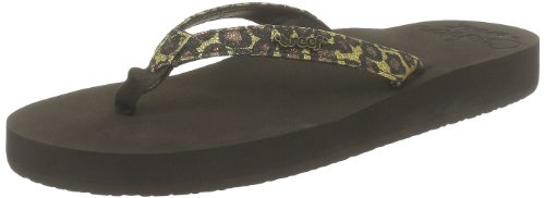 Reef Women's Star Cushion Sandal, Brown/Leopard, 5 M US