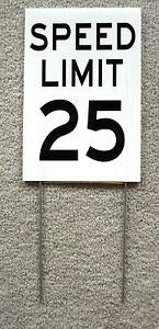 KARPP Speed Limit 25 Sign with Stake 8