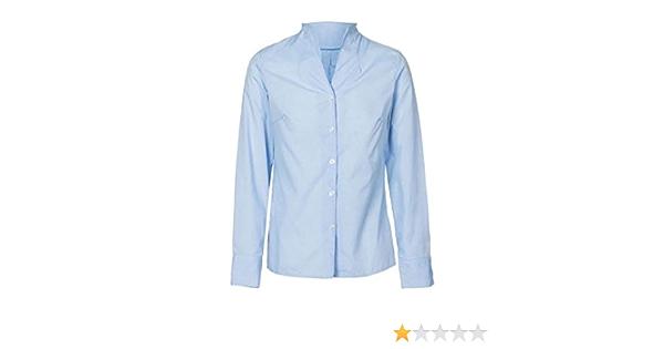NORVIL Camisa Mujer M/L Cuello Chimenea: Amazon.es: Ropa