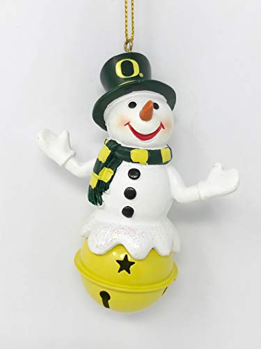 Oregon Ducks Jingle Bell Top Hat Snowman Christmas Tree Ornament - Officially Licensed ()