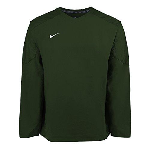 Nike V-neck Pullover (Nike Green Staff Ace Pullover DRI-FIT Green V-neck Sweater Baseball Golf Windbreaker (2XL))