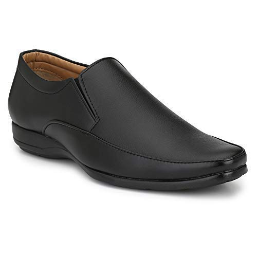 Anshul Fashion Synthetic Leather Black Formal Shoes For Men Best For
