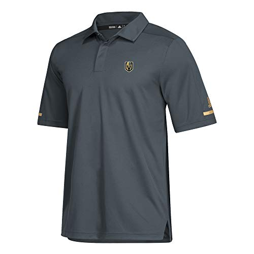 adidas NHL 2018 Mens Authentic Game Day Polo Shirt (Large, Vegas Golden ()