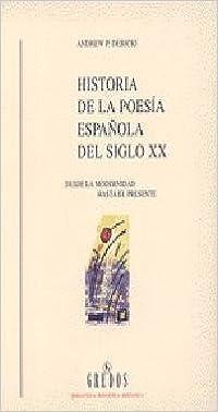 Historia poesia española siglo xx: 078 VARIOS GREDOS: Amazon.es: Debicki, Andrew P.: Libros
