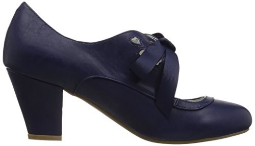 Pin Up Couture Da Donna Wiggle-32 Pump Blu Navy In Ecopelle