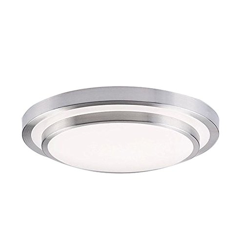 AFSEMOS 11.8-Inch LED Flush Mount Ceiling Light,32W LED Ceiling Lights, Cool White 6000K 2600LM, Lighting for Kitchen, Hallway, Office, Corridor, Flush Ceiling Light, Round LED Panel Light