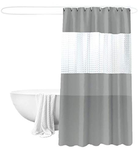 See Through Panel Shower Curtain