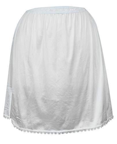 Valair Women's Classic Half Slip Skirt, 100% Nylon, 26 Inch, White, X-Large