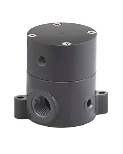 (Plast-O-Matic BSDA Series Polypropylene Shut-Off Valve, For Corrosive and Ultra-Pure Liquids, 1/4