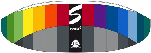 HQ Series Symphony Professional Kite (2.2 Rainbow) by HQ Kites and Designs