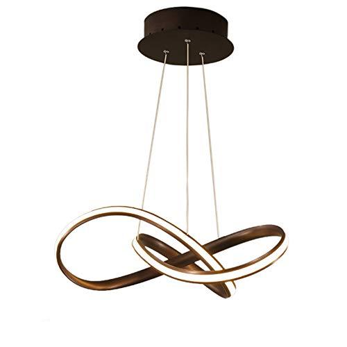 Hlidpu Modern LED Pendant Lights with Remote Control for Living Room Dining Room Acrylic Aluminum Body LED Lighting Adjustable Height,3000K-6000K,Dimmable - Pendant Light Moderne