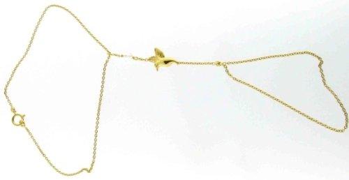 Diamantly - Parure Main Colibri 1 Cristal Blanc - or 375/1000 (9 Carats) - Femme - Fille