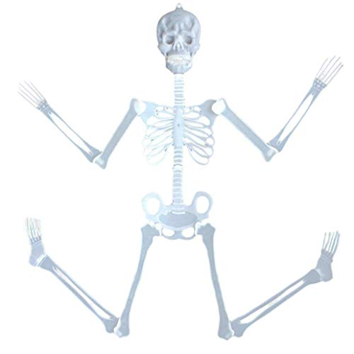 UMFun 35cm Luminous Skull Skeleton Body Scary Halloween Toy Haunted House Tricky Prop