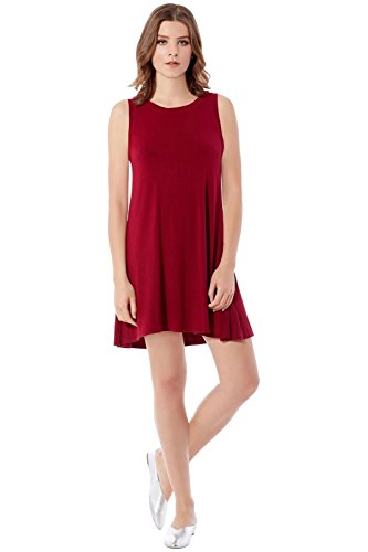 Mini Swing - Rohb by Joyce Azria Seville Sleeveless Mini Swing Dress (Burgundy) Size S