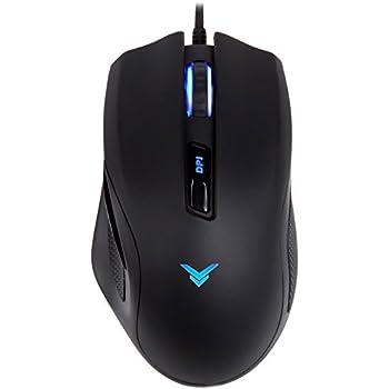 4a02a3f7de7 AmazonBasics Multi-color Ergonomic PC Gaming Mouse - Programmable Macros,  3200 Adjustable DPI