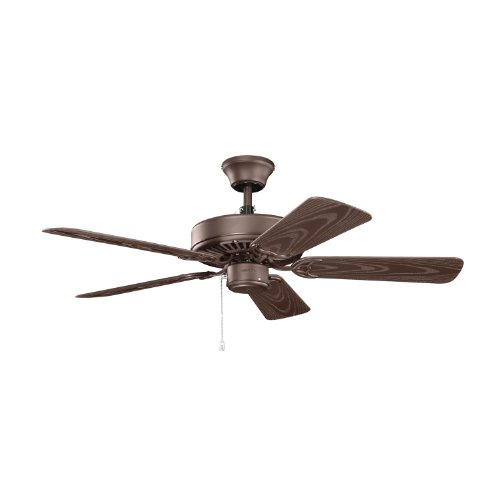 Kichler 414SNB, Basics Patio Satin Natural Bronze 42 Outdoor Ceiling Fan