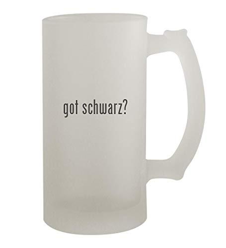 got schwarz? - 16oz Frosted Beer Mug Stein, Frosted (- Schwarz-linse)