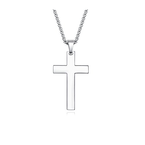 Womens Cross Pendant Necklace for Women Girls ladies Teens Tiny Stainless Steel Prayer Simple Religious Crosses Criss Baptism Holy Christian Necklaces Jewelry Gift Prime Mom Wife Christmas Small