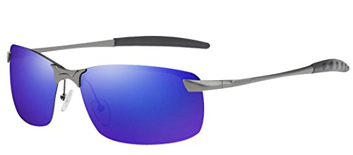 Sunglasses anti Navy Metal Sunglasses Driving Men Cool Sunglasses ultraviolet Tide Fashion HD JYR Polaroid wHUqxa7ZT