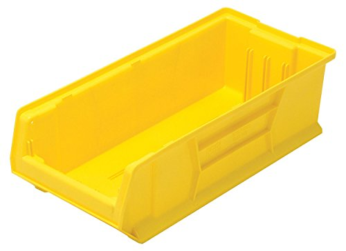 Quantum QUS952 Plastic Storage Stacking Hulk Container, 24-Inch by 11-Inch by 7-Inch, Yellow, Case of 4 by Quantum Storage Systems