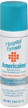 Americaine Benzocaine Topical Anesthetic Spray - 2 oz, Pack of (Americaine Benzocaine Topical Anesthetic)