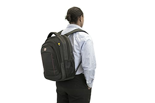 Allcam 15.6 Laptop Backpack Rucksack Zainetto Water Resistant w/ Padded front & back, Headphones jack, and Pockets for ipad/tablet & iphone/smart phone