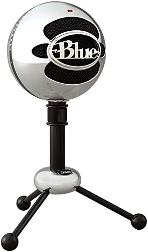 Blue Snowball USB Microphone with Two Versatile Pickup Patterns and Stylish, Retro Design for Recording, Streaming & Podcasting on PC & Mac – Brushed Aluminium