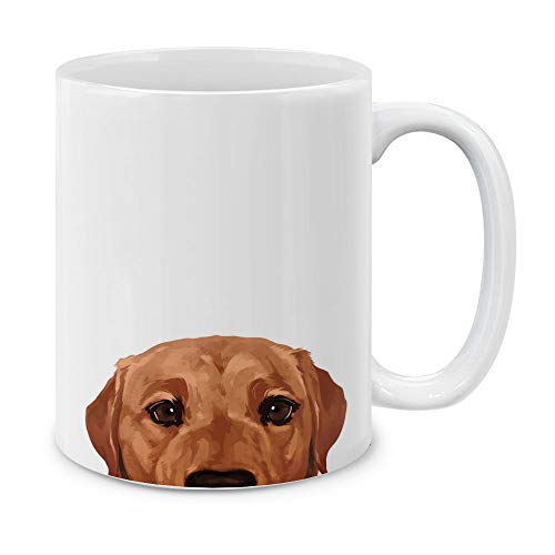 MUGBREW Fox Red Labrador Retriever Dog Ceramic Coffee Gift Mug Tea Cup, 11 ()