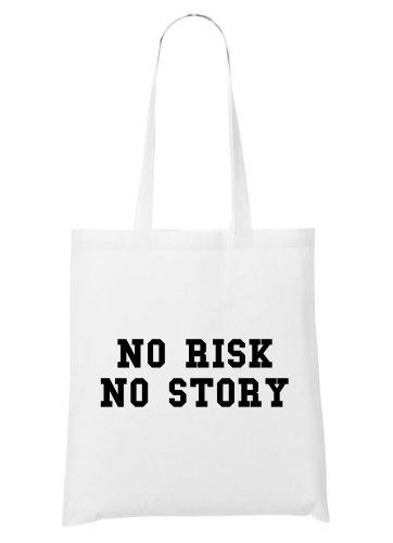No Risk No Story Bag White