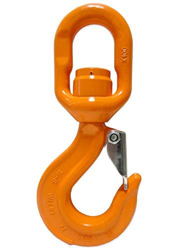 7 Ton X100 Alloy Swivel Bearing Hoist Hook with Latch Load Rotation Device