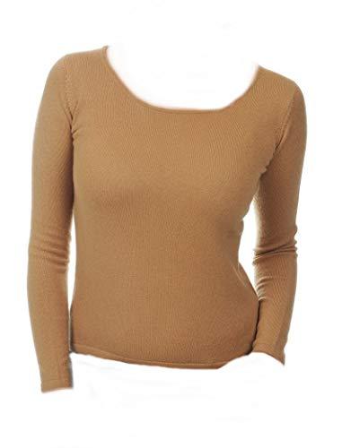 Pullover Pullover Pullover camel Kaschmir Rundhals XL 2 Balldiri Balldiri Balldiri Cashmere Damen fädig 100 wqCAx1f