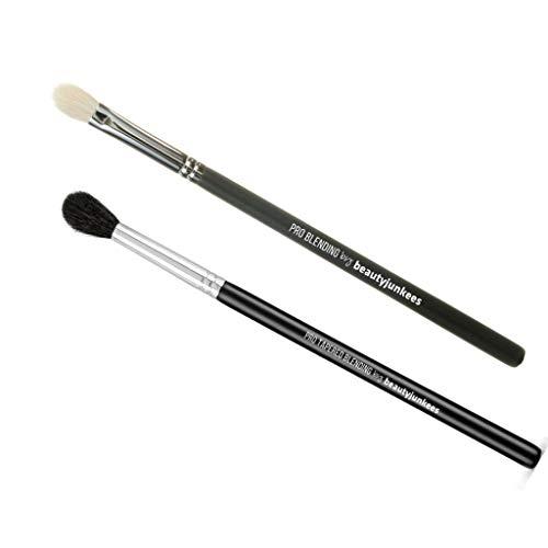 Eyeshadow Blending Makeup Brushes Set – 2pc Beauty Junkees Professional Eye Shadow Blender Make Up Brush, Tapered Dome…