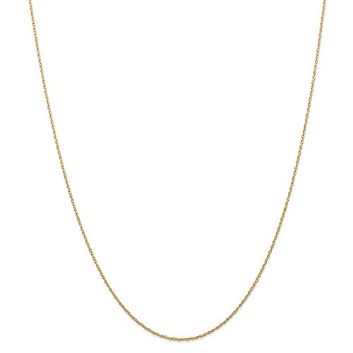 14k Yellow Gold .7 Mm Carded Cable Link Rope Chain Necklace 24 Inch Pendant Charm Fine Jewelry Gifts For Women For Her
