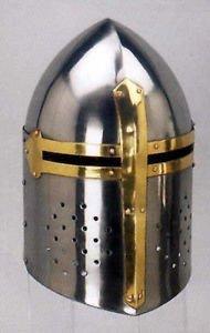 Templar Crusader Sugarloaf Armor Helmet