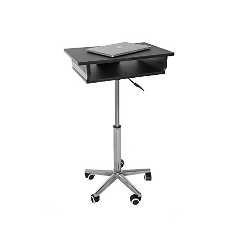 Techni Mobili SIB006-GPH06, Foldable Table Laptop Cart - Mobile Workspace Cart