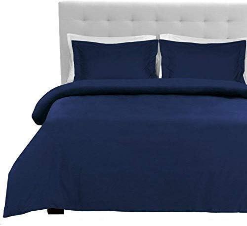 Tula Linen 600 Hilos 6 Piezas Juego de sábanas 100% algodón Egipcio Premium Calidad tamaño debolsillo 42 cm (sólido Color Azul Marino UK King Size 150 x 200 CM): Amazon.es: Hogar