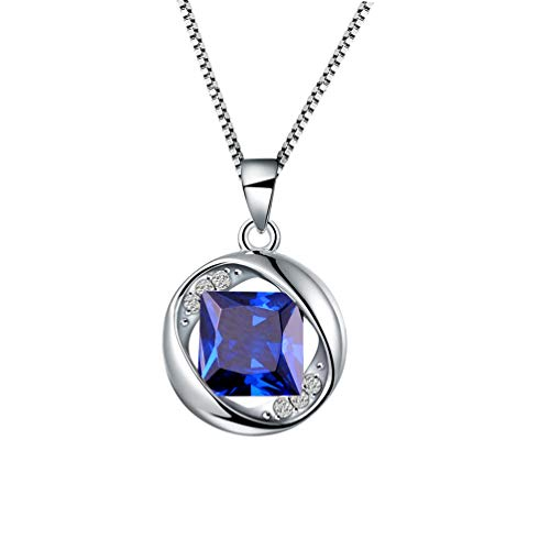 Aurora Tears September Birthstone Necklaces Women Birthday Pendant Girls Birthday Jewelry Dating Gift DP0029S -