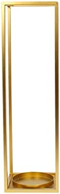 杖/杖/折りたたみ傘ホームオフィスの廊下傘スタンドトレイフック付き自立床スタンド付き金属色傘立てマルチカラーオプション(色:ゴールド)